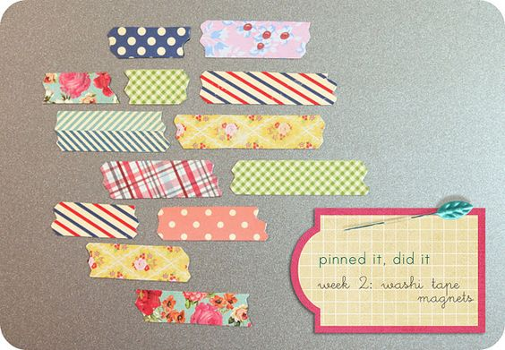 really fun tape magnets! I might have to do this!