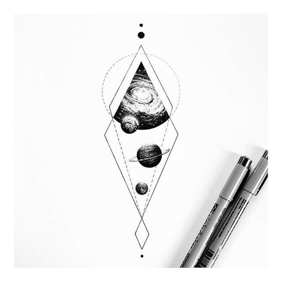 47 Geometry And The Universe By Insta Blackwork Astronomy Tattoo Space Tattoo Universe Tattoo