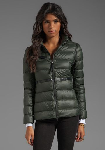 MACKAGE Irma Light Weight Down Jacket in Army at Revolve Clothing