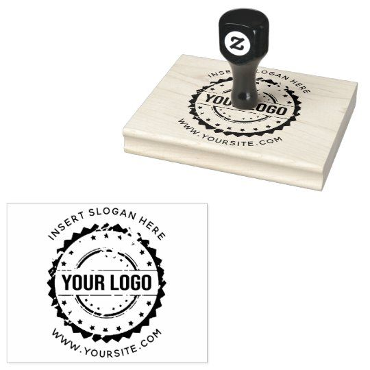 Custom Your Company Logo Rubber Stamp