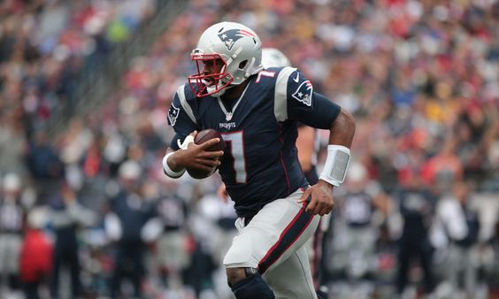Patriots' QB Jacoby Brissett could end up on IR = Rookie QB Jacoby Brissett could end up on IR for the New England Patriots. He's not at practice today with his thumb injury. The Pats haven't officially made that move yet, but they may do so. If they do, it would.....