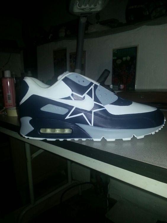 57b1b444576 Dallas Cowboys Custom Nike Air Max Hit me up for pricing  Vincenzocustomsgmail.com Dallas Cowboys ...