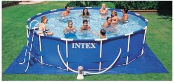 intex 15 39 x 42 metal frame pool catalog spree pin to win pinterest pools metal frames