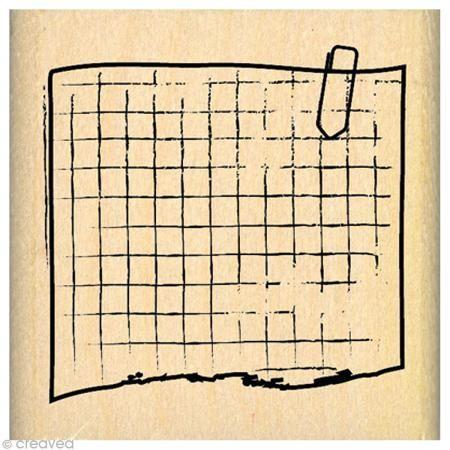 Tampon Divers - Bout de carnet - 5 x 5 cm