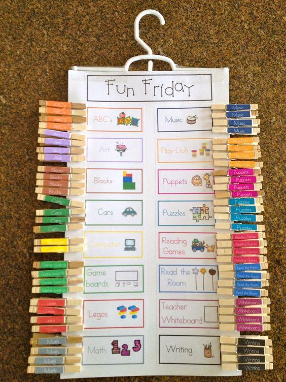 A Teeny Tiny Teacher: Free Choice Chart