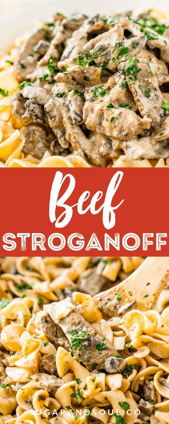 Beef Stroganoff Easy Dinner Recipe Sugar And Soul Co Beef Dinner Easy Recipe Soul Stroganoff Su In 2020 Beef Stroganoff Easy Beef Dinner Pasta Dinner Recipes