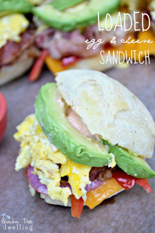 Loaded Egg & Cheese Sandwich | Lemon Tree Dwelling