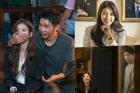 "Suzy and Lee Seung Gi Brighten The Set Of ""Vagabond"" With Their Smiles"