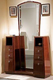 Art Deco dresser with full-length mirror