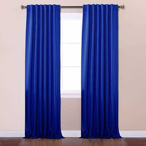 blue curtains living room