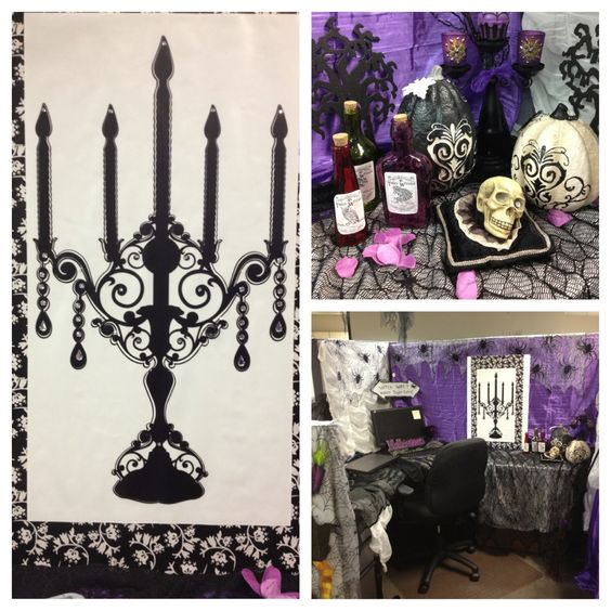 Halloween cubicle office decorations pinterest for Cubicle theme ideas