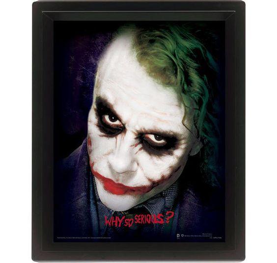 Batman The Dark Knight 3D Poster Joker Why so Serious?. Hier bei www.closeup.de
