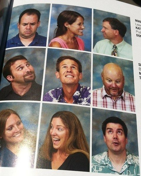Funny idea for a staff page, kind of add some humor and new interest and break the normal style of yearbook design.