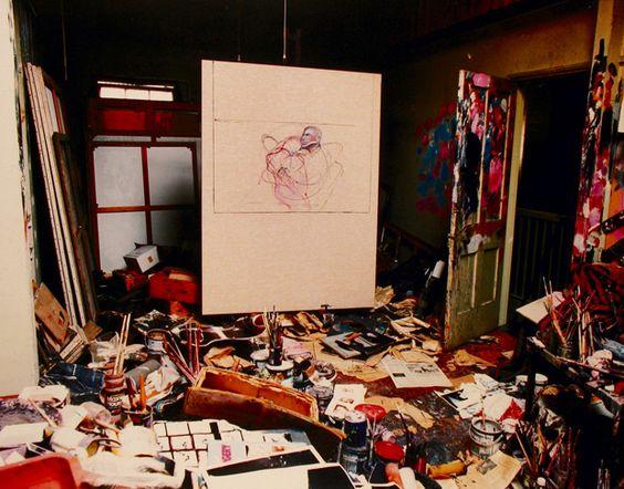 Francis Bacon's Studio, originally in London, recreated in Dublin