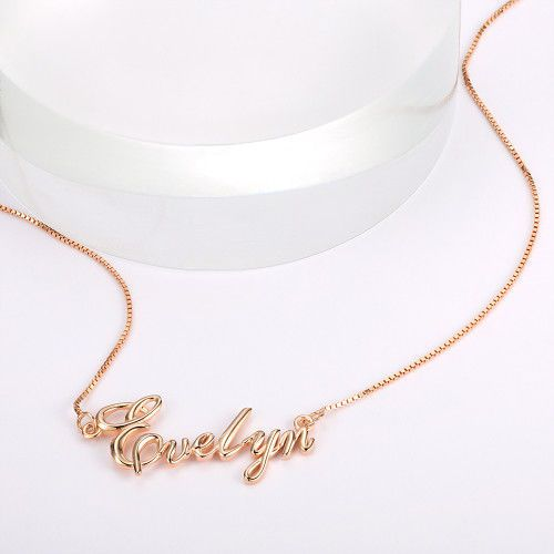 Name Necklace Personalized Necklace Pretty Name Jewelry Silver Rose Gold Plated By Fsntucvo62 Name Jewelry Name Necklace Silver Rose Gold