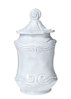 Kinzi Deslatte & Brandon Poole ~ September 14, 2013 ~ Beautiful Baroque Canister, part of Vietri's Incanto pattern. See the rest of the collection. ShopMFt.com