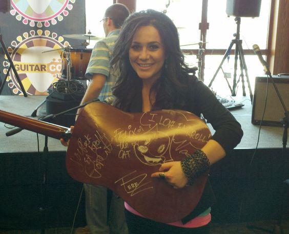 TereZa, with The EA Kroll Autographed Fender Guitar at Guitar Con, Montclare, NJ - 4/14/12  http://www.terezaonline.com/
