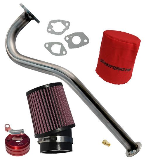 Stage 2 Air Filter Exhaust Pipe For Hemi Predator 212cc Minibike Go Kart Trike Parts Accessories