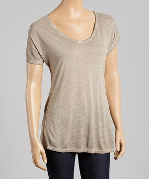 Moonrock Oil Dye Scoop Neck Tee by Dantelle #zulily #zulilyfinds