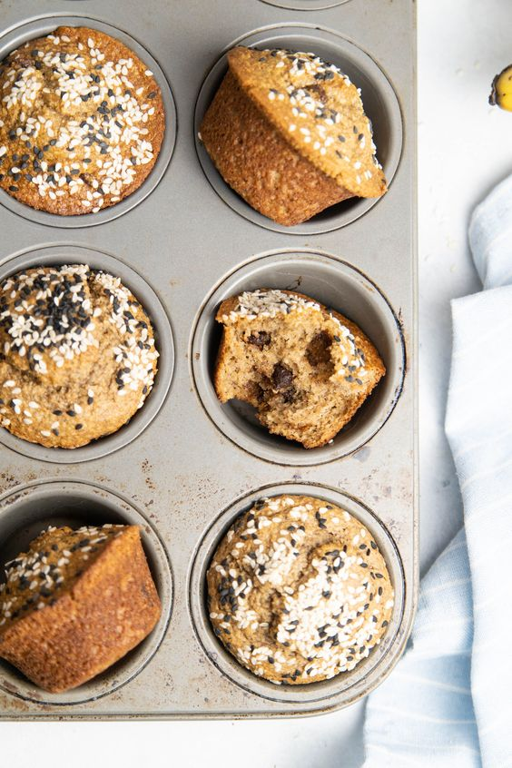 by Chocolate Tahini Blender Muffins – Soom Foods