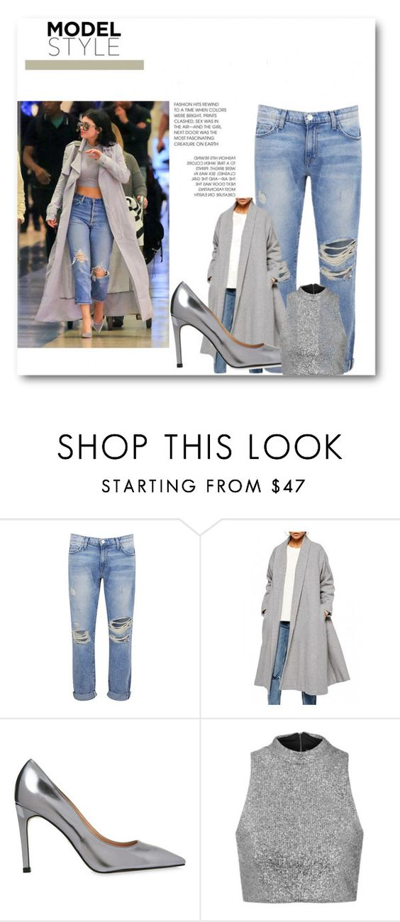 """""""Kylie from airport"""" by christagnes ❤ liked on Polyvore featuring Current/Elliott, Whistles and Topshop"""