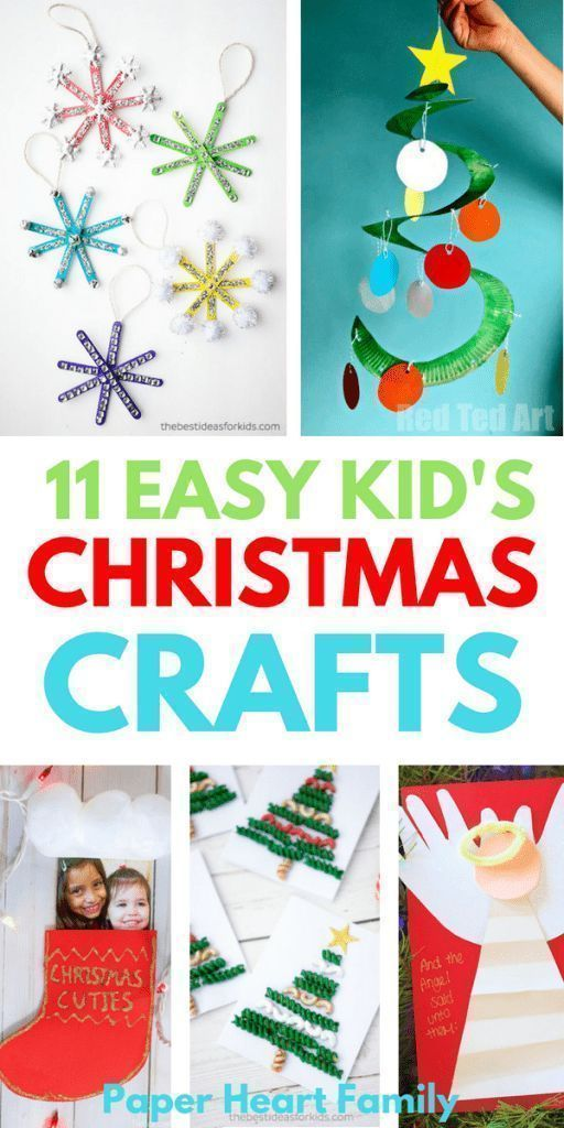 Easy Christmas Crafts For Kids That Are Low Prep Too Easy Christmas Crafts Holiday Crafts For Kids Kids Christmas Crafts Easy