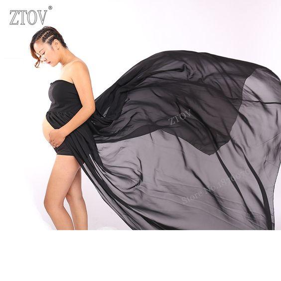 Goedkope ZTOV Vrouwen Zwart Rok Moederschap Fotografie Props Elegante…