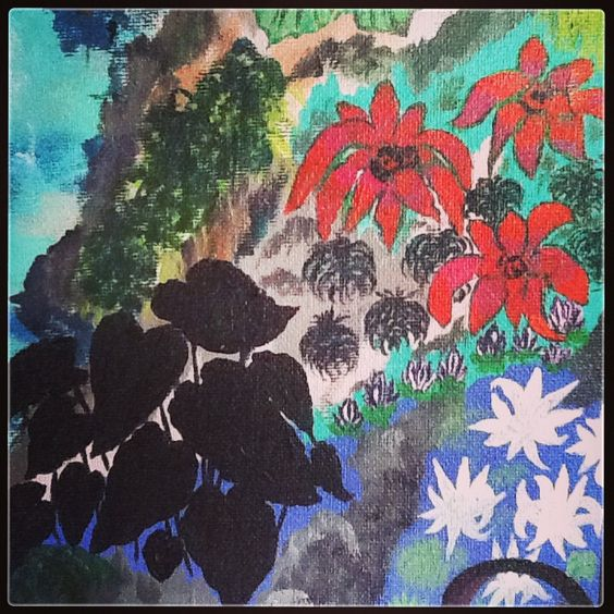 """""""MY GARDEN """" painting by Blue Angel"""
