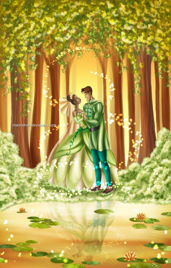 Tiana and Naveen | by Mareishon @ DeviantART.com // #disney; the princess and the frog