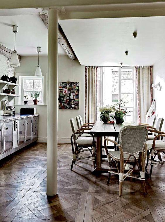 Interni di gusto per una casa tra stile shabby chic e country. Una ...