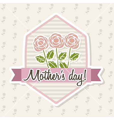 Mother's day roses by Giuseppe_R on VectorStock®