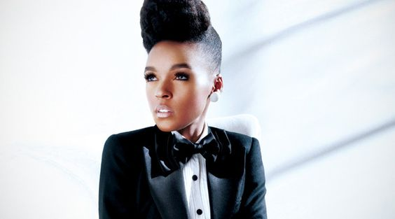 Black tux and bow tie on San Francisco Symphony's Janelle Monáe #womensfashion #style #fashion