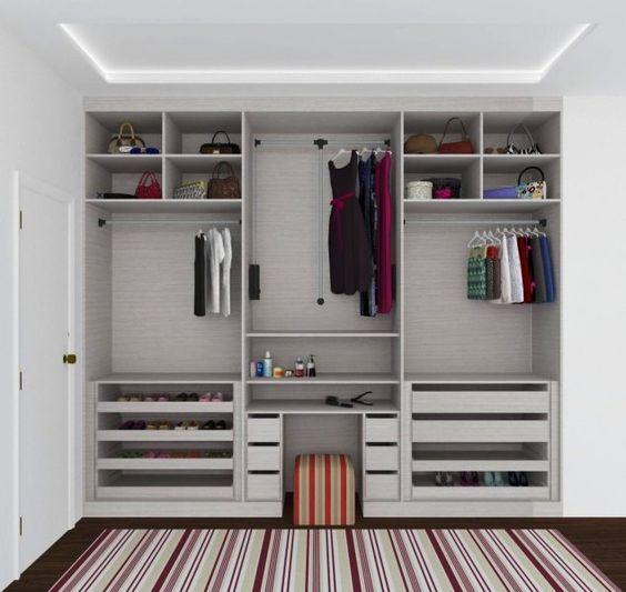 Modelos de closets pequenos e simples 4 closet for Modelos de closets