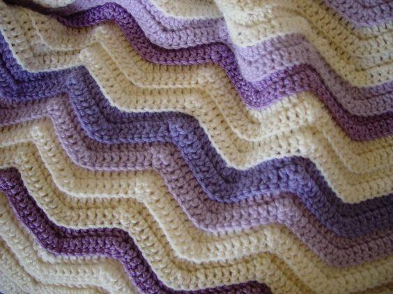 crochet blanket patterns Single Crochet Ripple Afghan ...