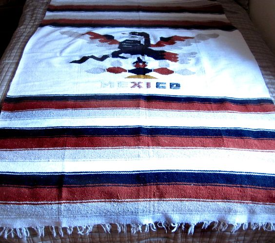 Vintage mexican blanket post thankfulness