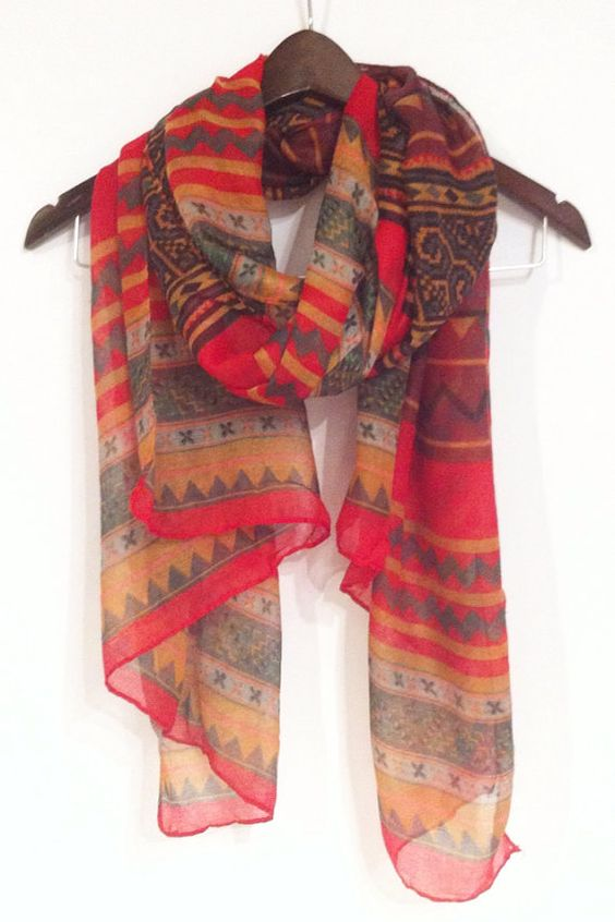 Hey, I found this really awesome Etsy listing at https://www.etsy.com/listing/183678453/red-aztec-scarf-tribal-scarf-boho-scarf