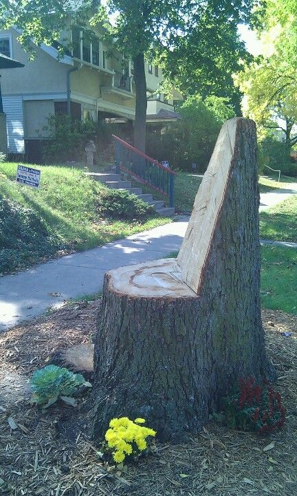 Recycled tree stump into seating tree stump ideas for Upcycled tree stumps