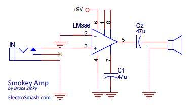 smokey amp schematic electronics pinterest. Black Bedroom Furniture Sets. Home Design Ideas