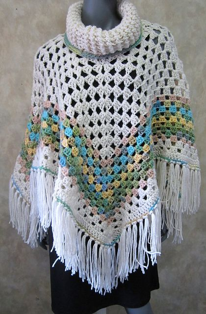 Free Crochet Patterns For Cowl Neck Poncho : Cowl neck, Ponchos and Cowls on Pinterest