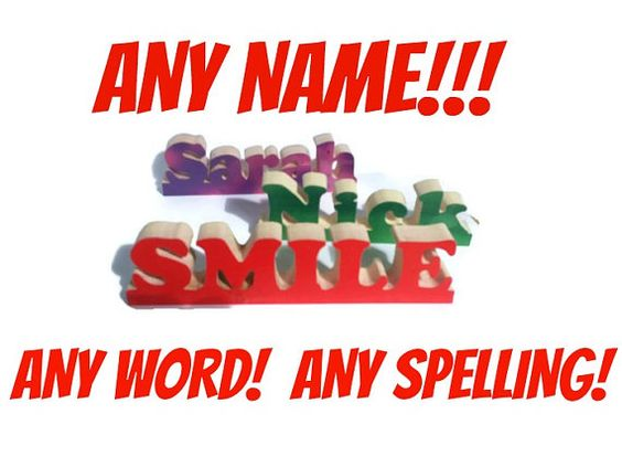 Name Signs Personalized Names Family Names Personalized by Ntoys $4.00 ANY NAME!!!! :)