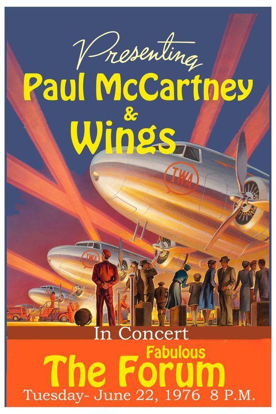 Art print POSTER McCartney Singing at Wings Concert