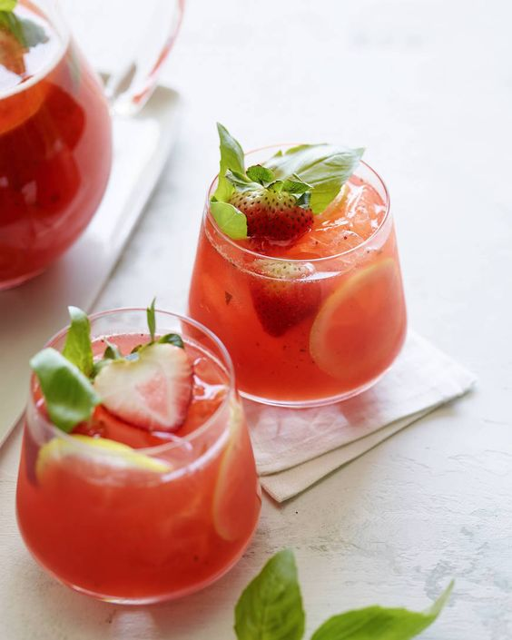 Strawberry Basil Lemonade: