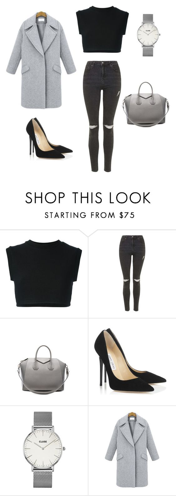 """The casual look with a pinch of fancy."" by laurentpadron ❤ liked on Polyvore featuring adidas Originals, Topshop, Givenchy and Jimmy Choo"