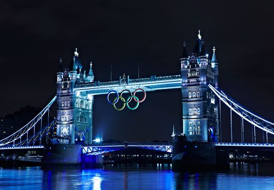 London's Tower Bridge is ready for the Games! Wish I were there!