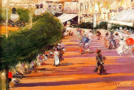 Beach: La Concha -   José Villegas Cordero Spanish 1848-1921