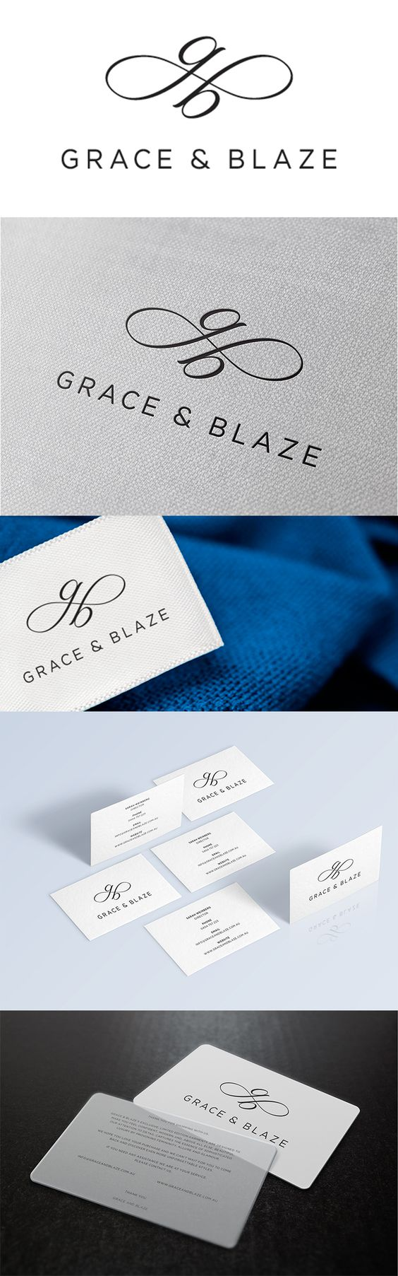 Grace & Blaze is one of Sydney's newest fashion labels. Made Agency created an elegant and unique brand identity that reflects the femininity and glamour of the brand.  graphic graphicdesign logo inspiration madeagency sydney fashion couture identity branding business