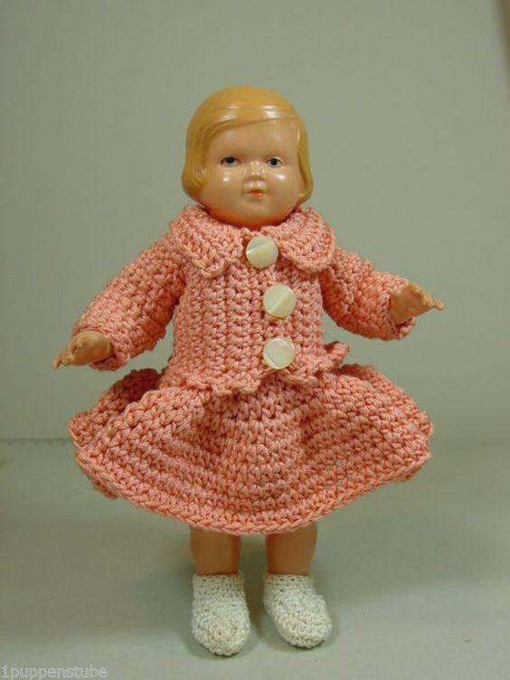 P831/ Antike Celluloid Puppe Schwäbische um 1940 ca. 18 cm.   eBay