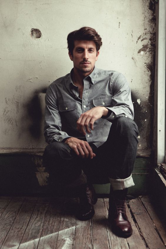 "Ernest Alexander – Fall 2012 Double Pocket ""Mitchell"" Chambray shirt"