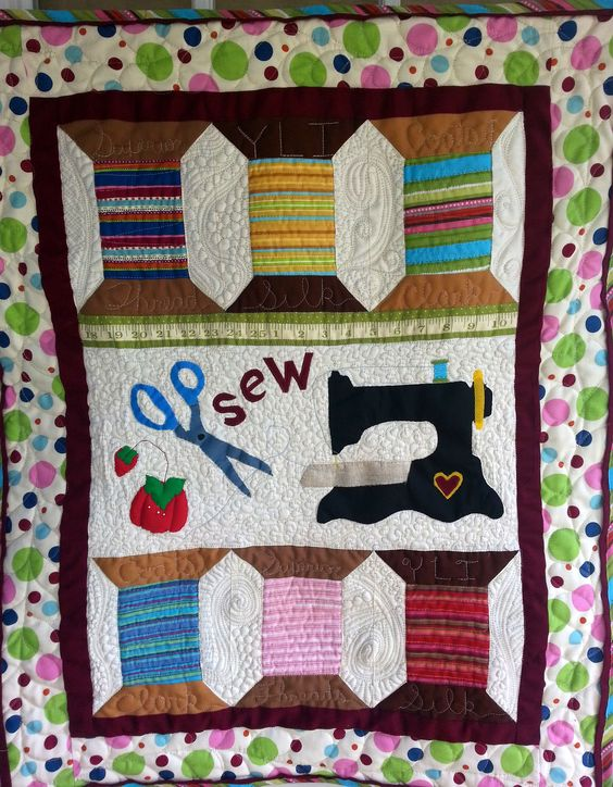 "My version of Wendy Gilbert's ""Spools and Tools"" pattern which I purchased from Quilt in a Day."