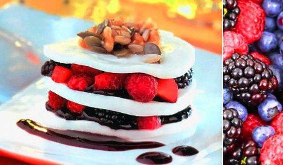 Una lasaña diferente: Lasaña de chocolate blanco y frutos rojos :D